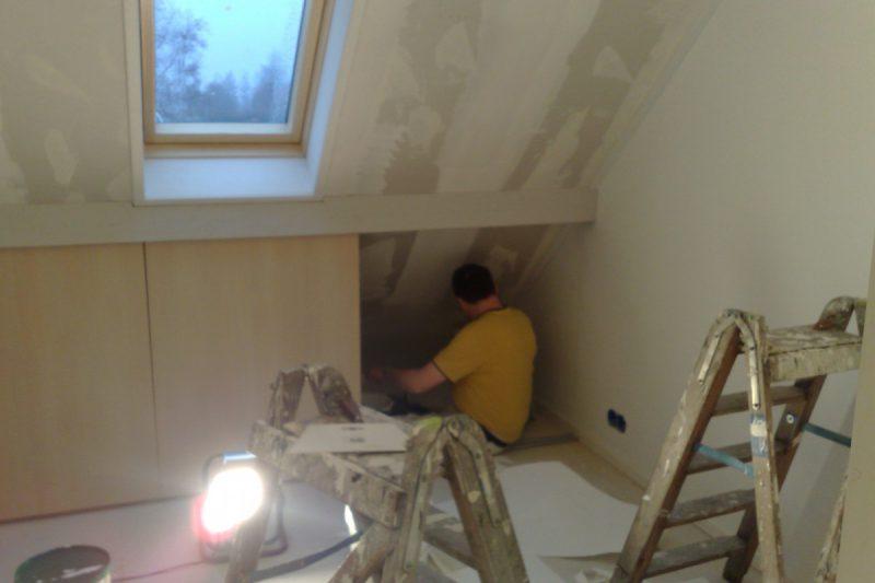 scan geplakt, gesausd, kozijen en deuren geschilderd project koekange